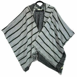 Simply Noelle Fringe Poncho Blanket Cardigan